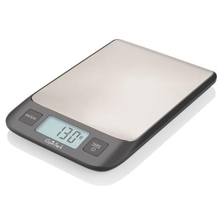 Gallet Digital kitchen scale GALBAC927 Maximum weight (capacity) 5 kg, Graduation 1 g, Display type LCD, Stainless steel virtuves svari