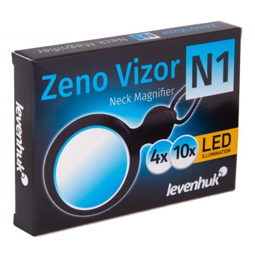 Levenhuk Zeno Vizor N1 Neck Plus Kompakts Kabatas uz Kakla Stiprinams Palielinamais Stikls ar LED Apgaismojumu (4-10x)
