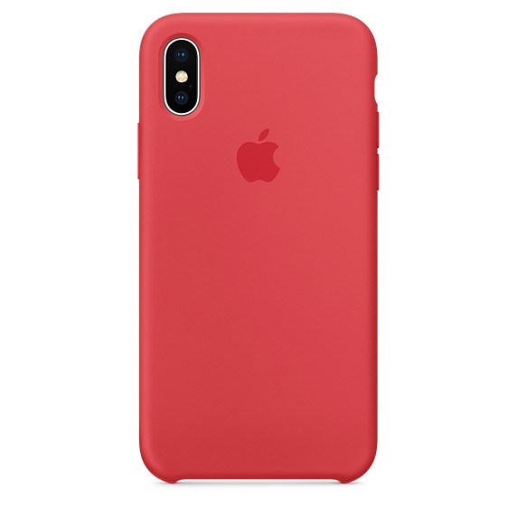 Apple iPhone X Silicone Case Red Raspberry
