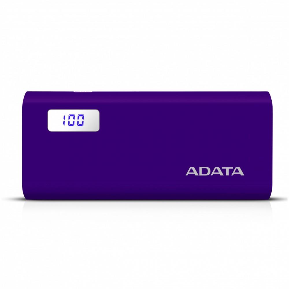 ADATA P12500D Power Bank, 12500mAh, purple Powerbank, mobilā uzlādes iekārta