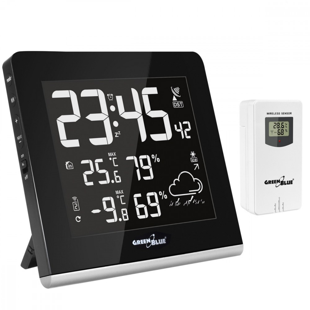 GreenBlue weather station DCF VA wireless weather station (GB151) barometrs, termometrs