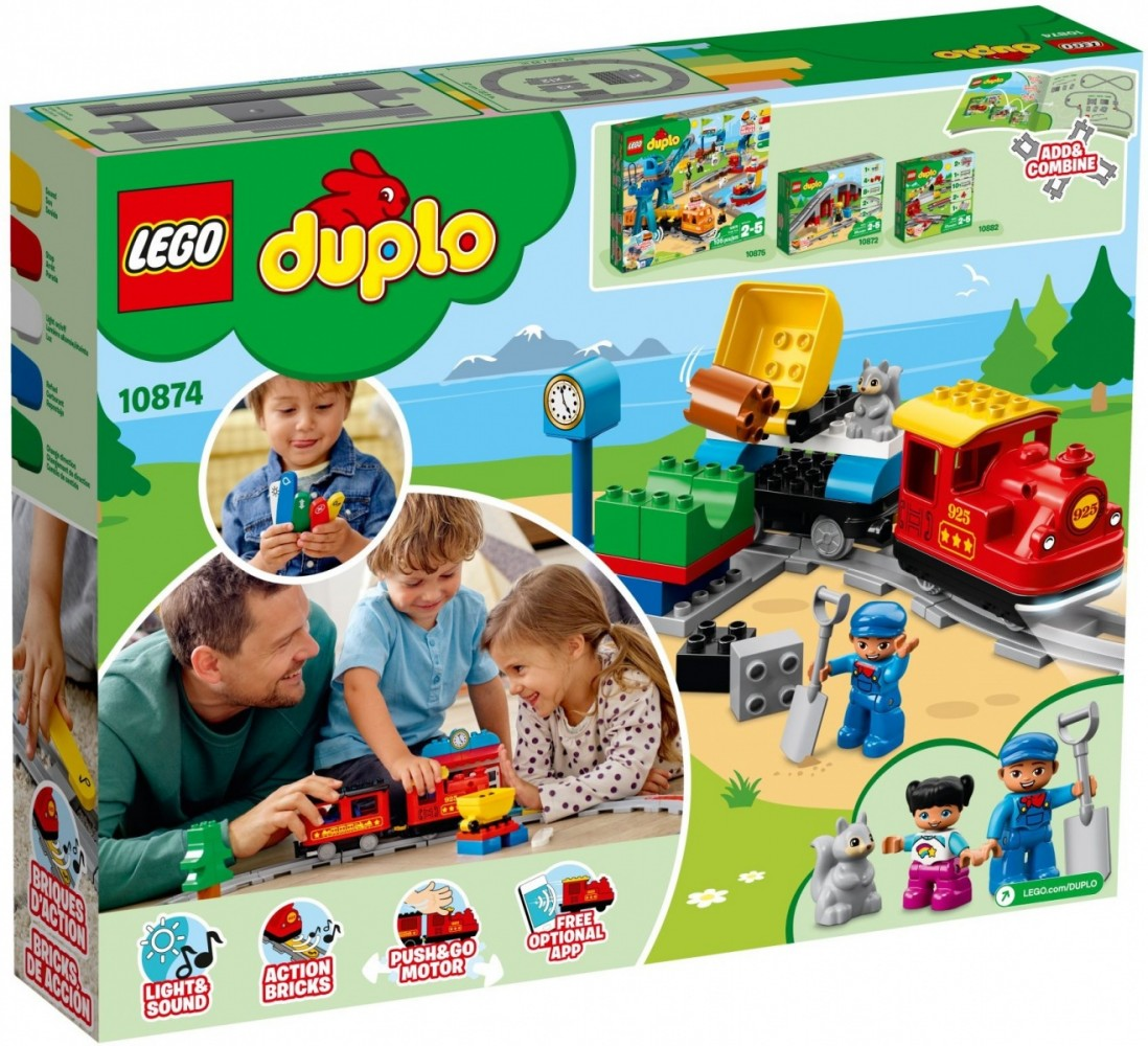 LEGO DUPLO Steam Railway Train - 10874 LEGO konstruktors