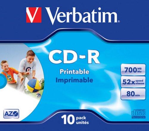 Verbatim CD-R AZO Wide Printable 0.7 GB, 52 x, Jewel Box matricas