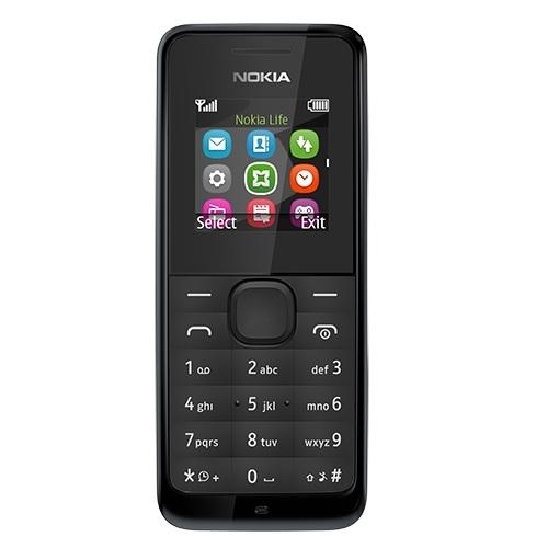 Nokia 105 (2017) Black Mobilais Telefons