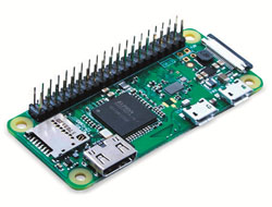 SIWA RASPBERRY-PI-ZERO WH W PINS BCM43438 SD SLOT HDMI 40-PINGPIO IN