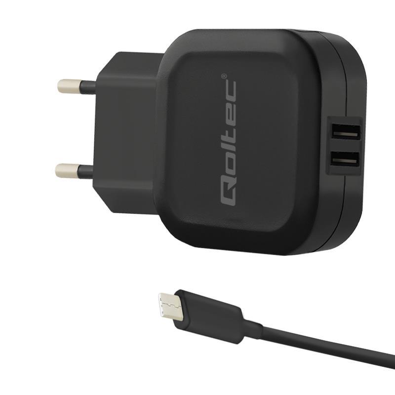 Qoltec 50188 mobile device charger Indoor Black iekārtas lādētājs