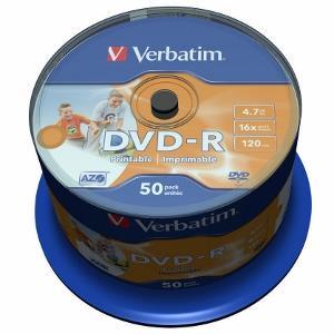 Verbatim 43533 DVD-R 4.7GB 16x Printable 50 Pack Spindle matricas
