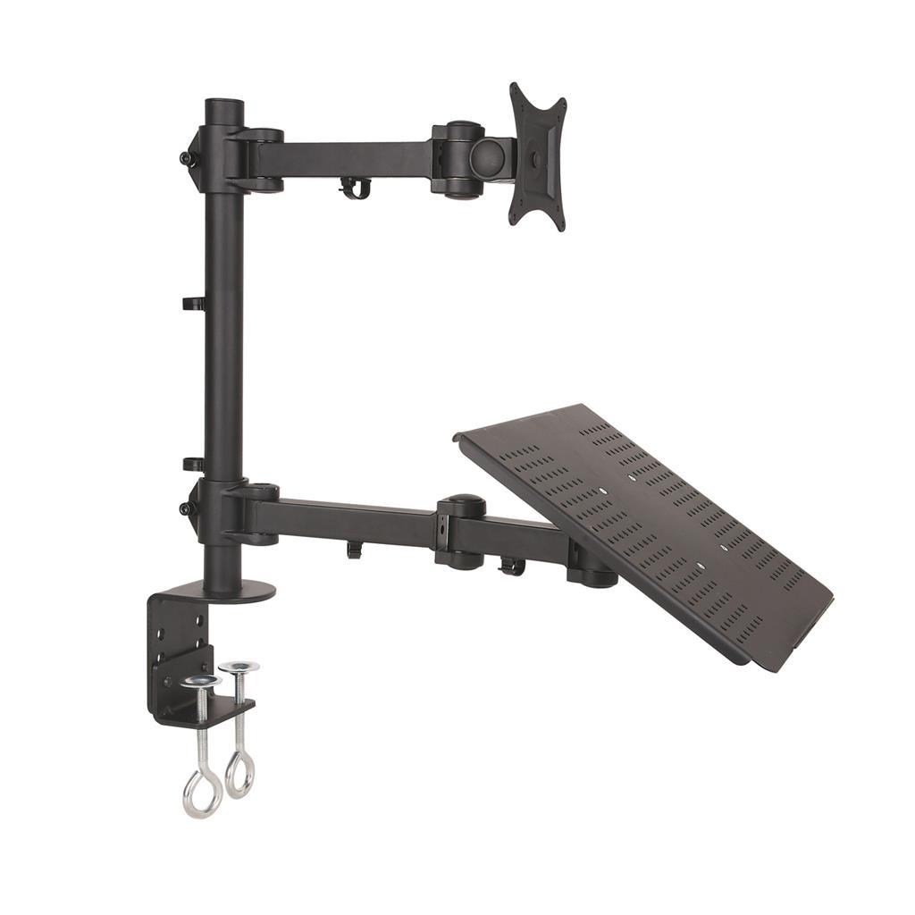 ART Holder L-23 Universal for monitor LCD/LED black 13-27''+notebook desk moutin
