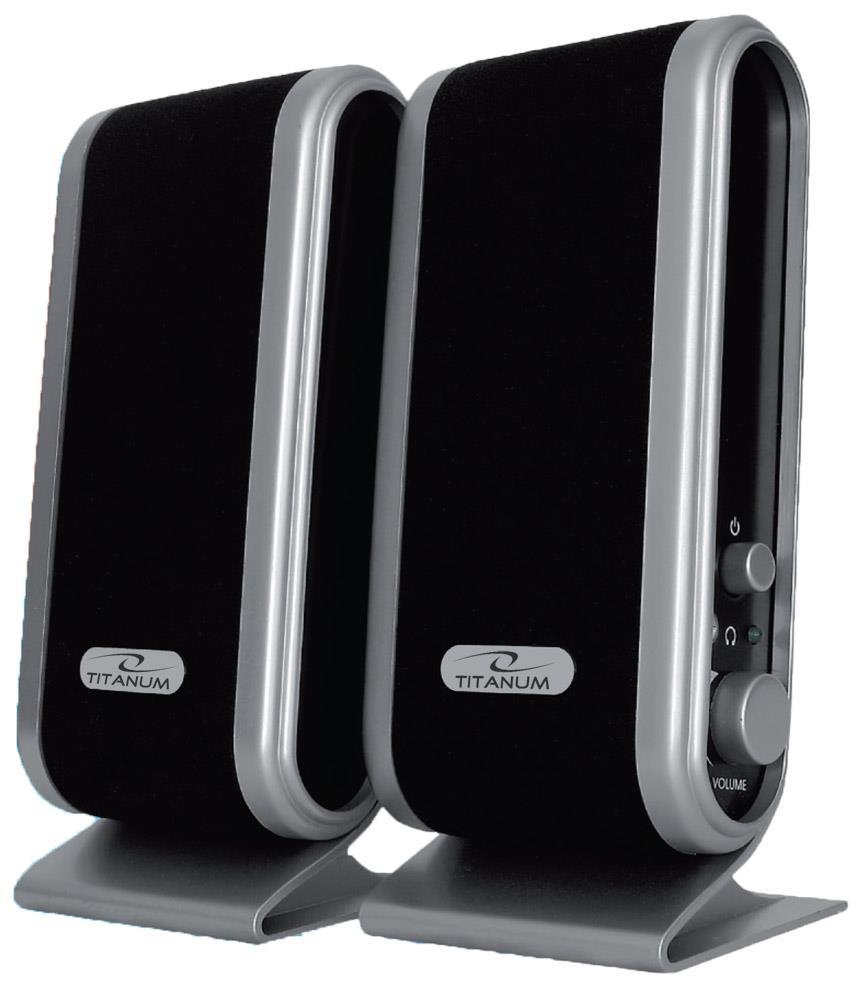 TITANUM TP102 STACATTO - Speakers 2.0 - 2 x 1W datoru skaļruņi