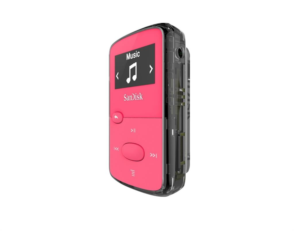 Sandisk CLip Jam MP3 Player 8GB, microSDHC, Radio FM, Pink MP3 atskaņotājs