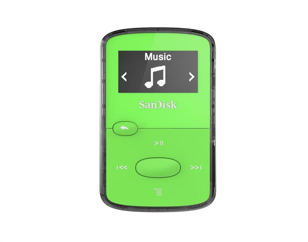 Sandisk CLip Jam MP3 Player 8GB, microSDHC, Radio FM, Green MP3 atskaņotājs