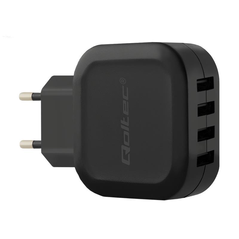 Qoltec 50192 Intelligent Charger 24W | 5V | 4.8A | 4XUSB iekārtas lādētājs