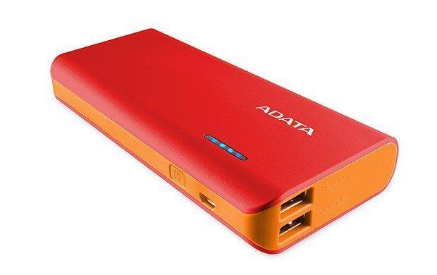 ADATA PT100 Power Bank 10000mAh, red/orange Powerbank, mobilā uzlādes iekārta
