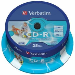 Verbatim CD-R 80/700MB 52X 25pack AZO WIDE PRINTABLE cake bo matricas