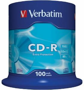 Verbatim CD-R 80/700MB 52X 100pack EXTRA PROTECTION cake box matricas