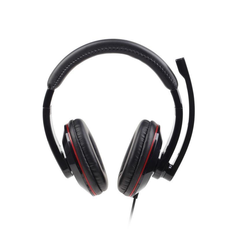 Gembird microphone & stereo headphones with volume control, glossy black austiņas