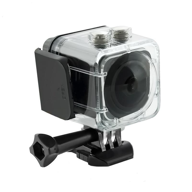Waterproof Sports Camera Full HD QOLTEC   LCD 0.82''   360st   black Video Kameras