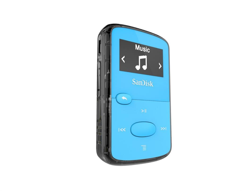 Sandisk CLip Jam MP3 Player 8GB, microSDHC, Radio FM, Blue MP3 atskaņotājs