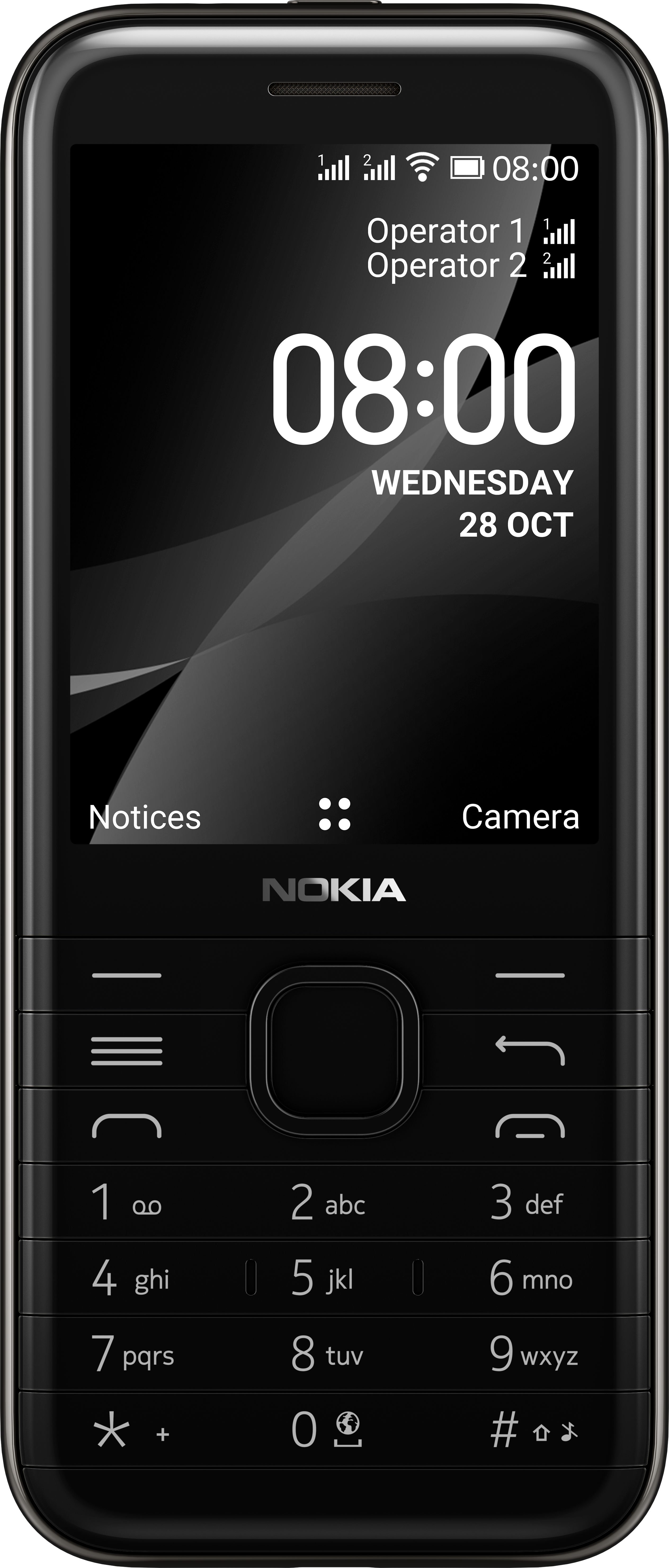 Telefon komorkowy Nokia 8000 4G Dual SIM Czarny TA-1305 Mobilais Telefons