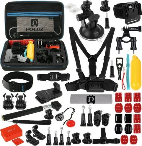 PULUZ 53 Puluz piederumu komplekts PKT09 sporta kamerām Sporta kameru aksesuāri