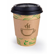 Kompostejamas kafijas kruzes ar vaciniem Go Green 350ml 10gab./ 0,196kg 1900870