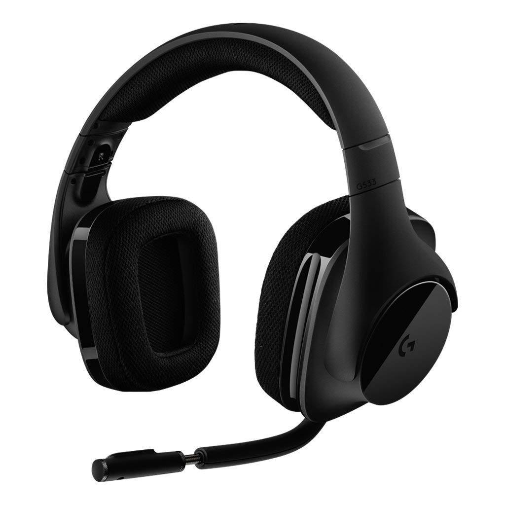 Logitech G533 Wireless Gaming DTS 7.1 Surround Sound black austiņas