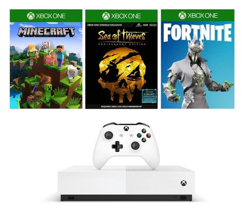 Microsoft Xbox One S 1TB Digital with Sea of Thieves, Forza Horizon 3, Minecraft spēļu konsole