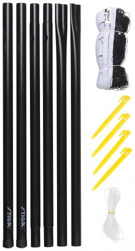 Badmintona tikls ar stabiem badmintona rakete