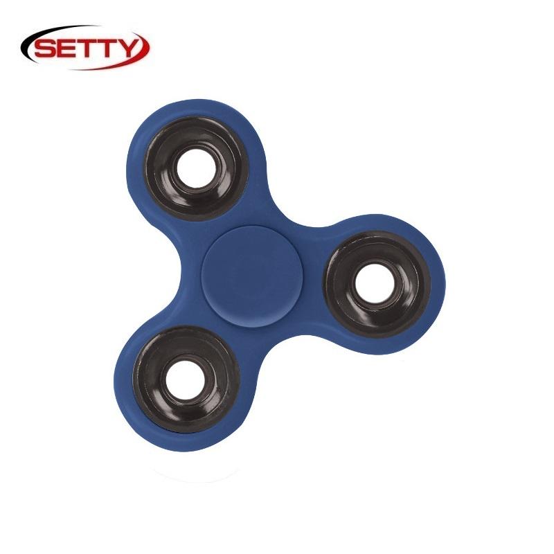 Setty Long & Smooth Roku Spinners Anti-Stresa Fidget aksesuārs no izturīga Eko Plastikāta Zils Fidget spinner