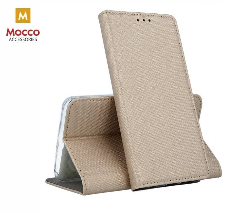 Mocco Smart Magnet Book Case Grāmatveida Maks Telefonam Xiaomi Redmi Note 7 / Note 7 Pro Zeltains maciņš, apvalks mobilajam telefonam