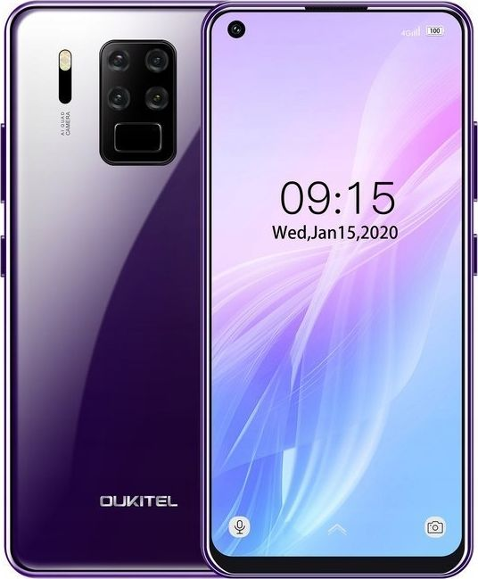 Smartfon Oukitel C18 Pro 64 GB Dual SIM Fioletowy  (oukitel_20200618143508) oukitel_20200618143508 Mobilais Telefons