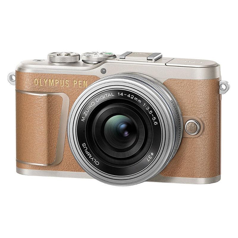 "Olympus PEN E-PL9 Kit 14-42 Mirrorless Camera Kit, 16.1 MP, ISO 25600, Display diagonal 3 "", Video recording, Wi-Fi, Brown/Silver Spoguļkamera SLR"