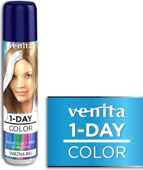 Venita 1-Day color spray 1 Sniezna biel V1604