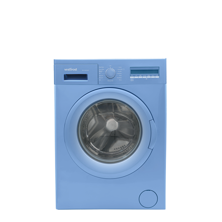 VestFrost Washing mashine WVC 10645 LCD BLUE Front loading, Washing capacity 6 kg, 1000 RPM, A++, Depth 40 cm, Width 60 cm, Blue, Display, L Veļas mašīna