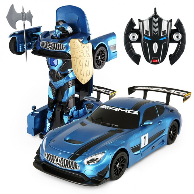 Rastar GT3 Transformer RASTAR 1:14 2.4GHz RTR - Blue Radiovadāmā rotaļlieta