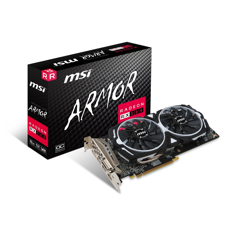 MSI Radeon RX 580 ARMOR 8G OC  8192MB,PCI-E,DVI,HDMI,DP video karte