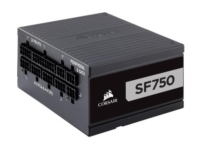 Corsair SF Series SF750 750W, 92mm, 80 PLUS Platinum, SFX, Fully Modular Barošanas bloks, PSU