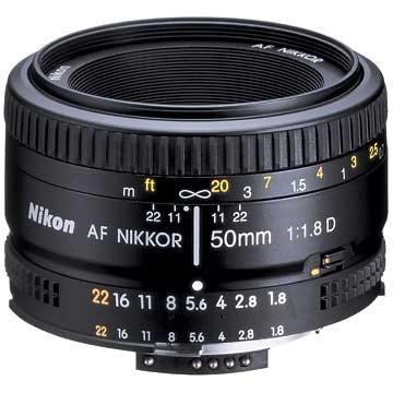 Nikon Nikkor AF 50mm f/1.8D foto objektīvs