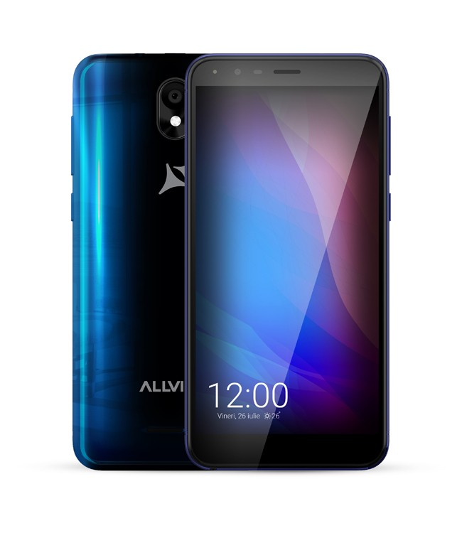 "Allview A10 Lite Blue, 5.34 "", Capacitive multitouch screen, 2.5D, 480 x 960, Cortex-A7 Quad-core, Internal RAM 1 GB, 8 GB, Micro SD, Dual S Mobilais Telefons"