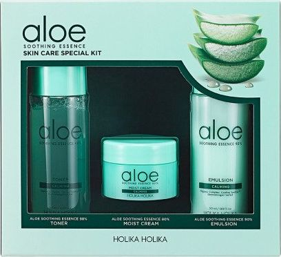Holika Set Aloe Soothing Essence Skin Care 50ml