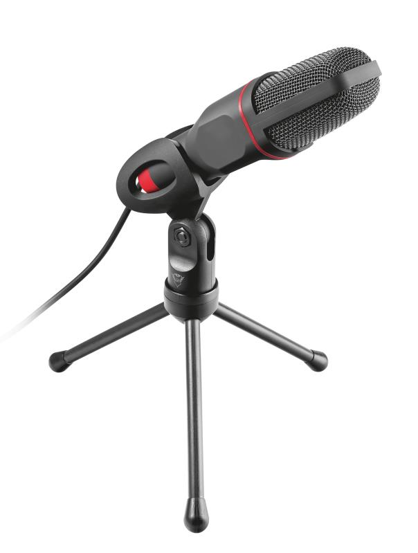 Trust GXT 212 PC microphone Black,Red Mikrofons