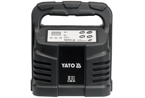 Yato Prostownik elektroniczny 12V 12A 6-200Ah (YT-8302) YT-8302 auto akumulatoru lādētājs