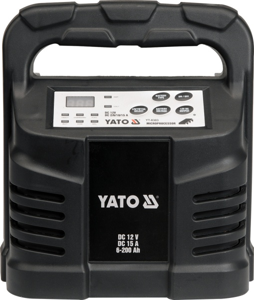 Yato Prostownik elektroniczny 12V 15A 6-200Ah (YT-8303) YT-8303 auto akumulatoru lādētājs