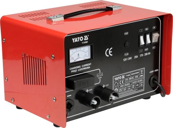 Yato Prostownik 12/24V 25A 350Ah z rozruchem 30A (YT-8305) YT-8305 auto akumulatoru lādētājs