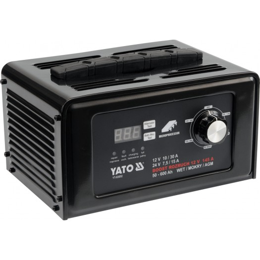 Yato Prostownik elektroniczny 12/24V 30A z rozruchem 145A (YT-83052) YT-83052 auto akumulatoru lādētājs