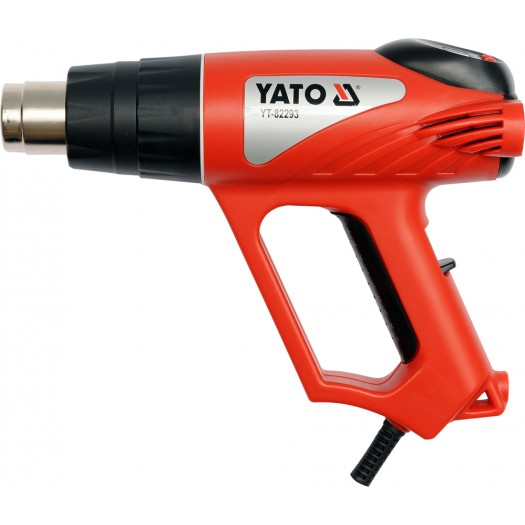 Yato Heat Gun 2000W 70 ~ 600 ° C LCD with accessories (YT-82293) celtniecības fēns