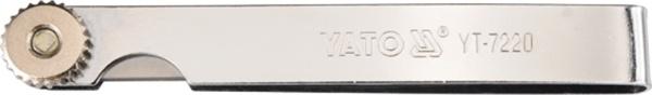 YATO Vārstu spraugu mērītājs 100x10mm, 0.02-1.00mm (17gab.)