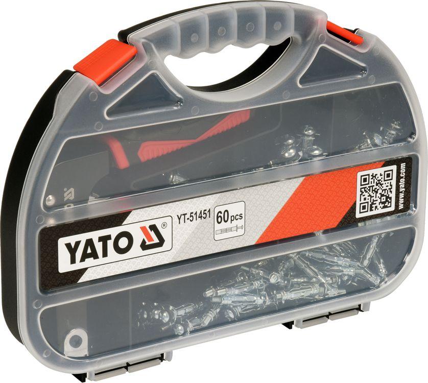 Yato Crimp Tool for Molly Carton Plaster with 60 Pins (YT-51451) Elektroinstruments