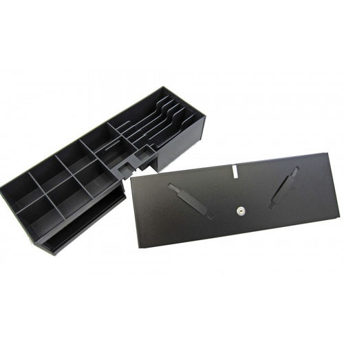 APG Cash Drawer Insert 8/6 Fliptop w/ Lock Lid w / Integrated Media Storage Inserts 5711045601880