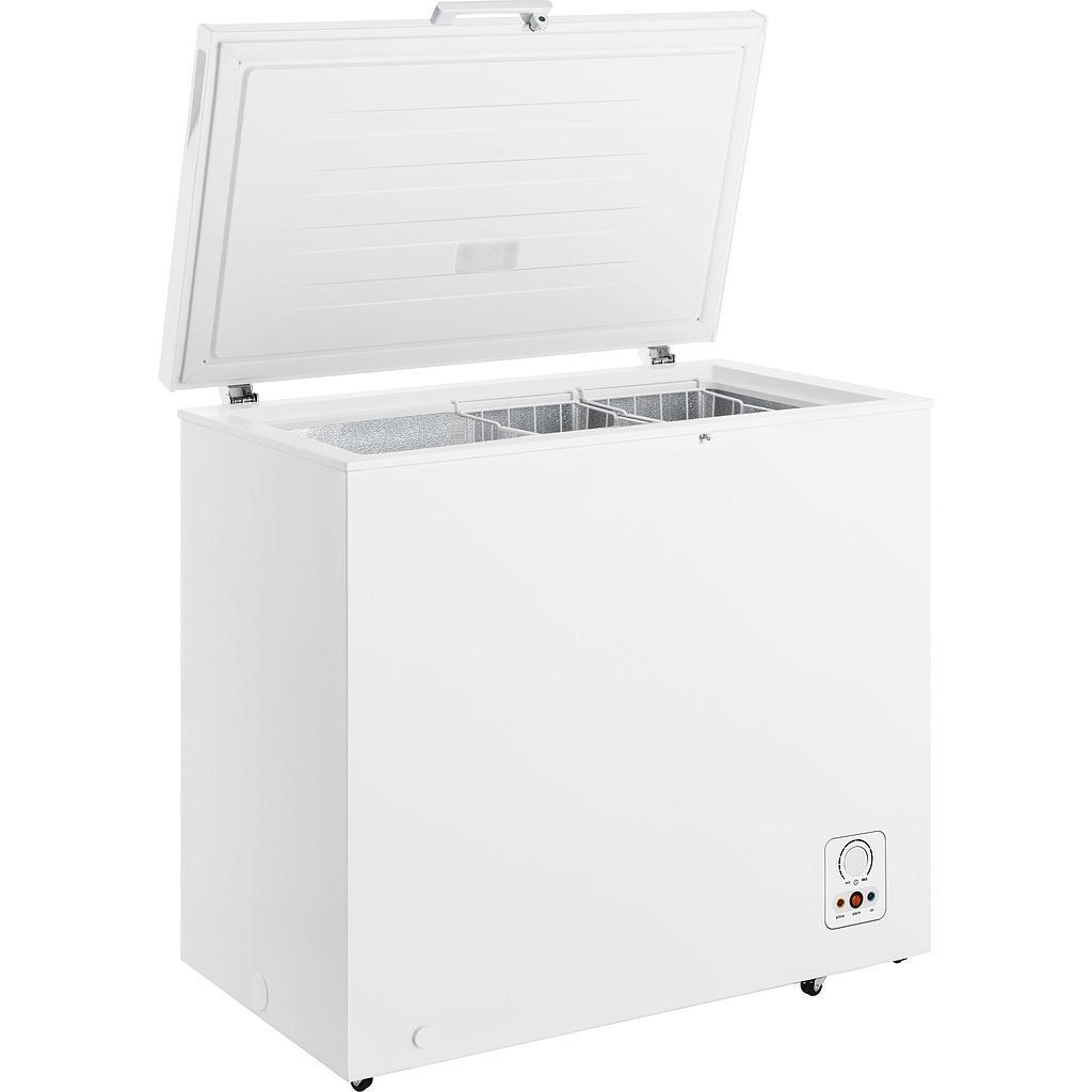 Gorenje Freezer FH211AW Chest, Height 84 cm, Total net capacity 194 L, A+, Freezer number of shelves/baskets 2, Display, White, Free standi Vertikālā Saldētava